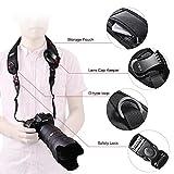 Tycka Kamera Tragegurt mit Schlinge Kamera Nacken Hals Tragegurt , rutschfest, atmungsaktiver und ergonomischer Gurt, ausgestattet mit Schnellverschluss und Objektivdeckel-Tasche Test