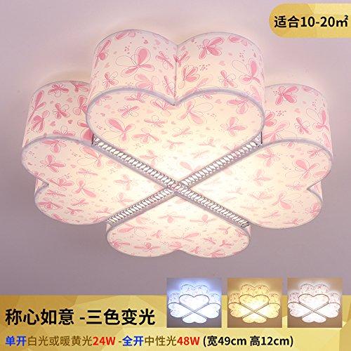 839 Ein Licht (Schlafzimmer Licht LED Deckenleuchte Hochzeit einfache, moderne Zimmer Mädchen Persönlichkeit Romantik wärme Originalität Kinder Zimmer lightingThree Farbe Licht)
