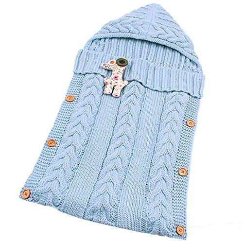 OLORFUL Babyschlafsack Baby Schlafsack,Baby niedliche Decke wickeln Schlafsack Kinder Kleinkind Schlaf Sack Kinderwagen Wrap ,Geeignet für Baby von 0 ~ 12 Monate (Blau) (Niedliche Decke)