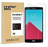 LG G4 Protection écran, iVoler Film Protection d'écran en Verre Trempé Glass Screen Protector Vitre Tempered pour LG G4- Dureté 9H, Ultra-mince 0.20 mm, 2.5D Bords Arrondis- Anti-rayure, Anti-traces de doigts,Haute-réponse, Haute transparence- Garantie