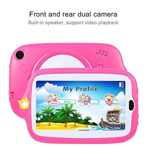 Fulltime E-Gadget 7 Zoll Kinder Android 4.4 Tablet PC,512MB+ 8G Quad-Core WiFi Kamera Kinder Geschenk Tablet PC (Rosa)