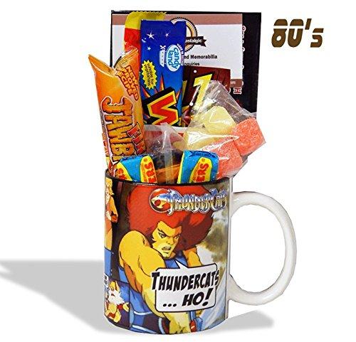 Thundercats Ho ! Mug with a Thundera portion of 80's Retro Sweets.