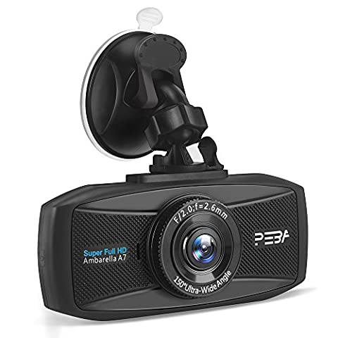 Dash Cam In Car Dashboard Cam PEBA 1296P Car Dash Camera Night Vision 2.7-Inch Screen with Collision Detection And Emergency Recording - Resolution Increased by 44% Compared with