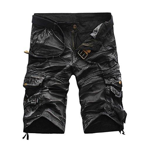 Styledress Herren Shorts Sommer, Herren Shorts Jeans Sport Shorts Jungen Kurze Hosen Jogging Hose Trainingsshorts Sporthose Arbeitshose Lässige Kurze Hose (Grau, XXL/38)