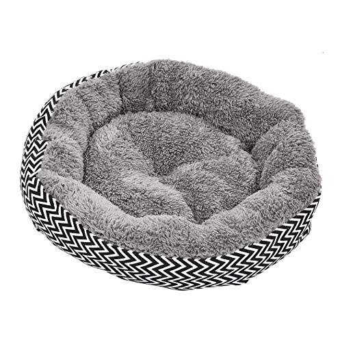 soundwinds Haustier-Hundebett-Runde Fleece-Haustier-Nest-Bett-Weiches Kissen-Korb-Bett-waschbarer Hundehöhlen-Matten-Auflage-Bett für Welpen-Kleinen Hundekatze -