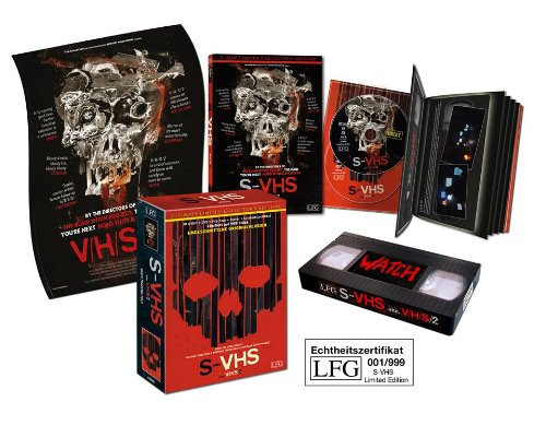 S-VHS - V/H/S 2 - Uncut [Blu-ray + DVD + VHS-Tape + Poster] [Ultimate Limited Collector's Edition] (H V S Poster)