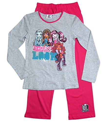 Monster High Pyjama Kollektion 2017 Schlafanzug 122 128 134 140 146 152 Schlafbekleidung Mädchen Lang (122 - (Monster Kleid High)