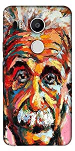 Snoogg Einstein Scientist'S Vision Designer Protective Back Case Cover For Lg...