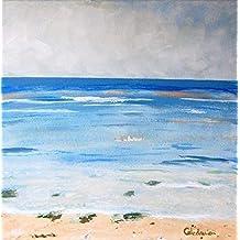 Cuadro de pintura acrílica sobre lienzo. Calma. Pintado a mano. Obra única.
