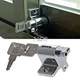 Market Yard Zinc Sliding Window Patio Screw Door Locking Pin Push Child Safety