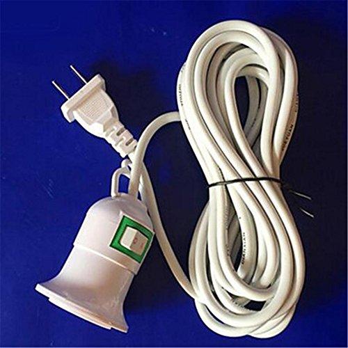 3,8 Meter mit Linie Fassung Schraube mouth hanging Lampe Cap E27 schwarz/weiß Farbe zufällig