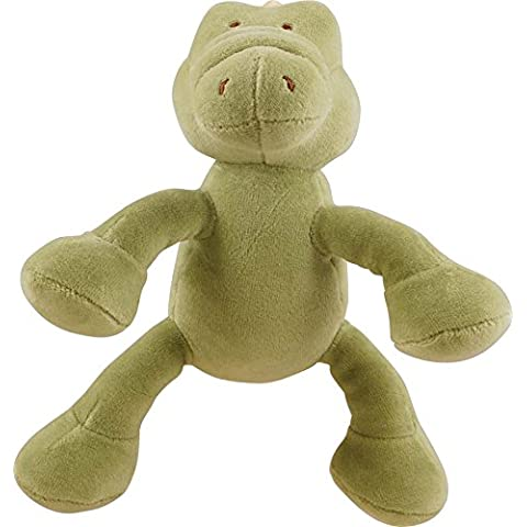 Simply Fido Gary 6-Inch Petite Green Alligator Squeaker Dog Toy by Simply Fido
