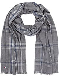 Tommy Hilfiger Herren Schal Check Cotton Scarf, Blau (Grey Blue Mix 901), One Size