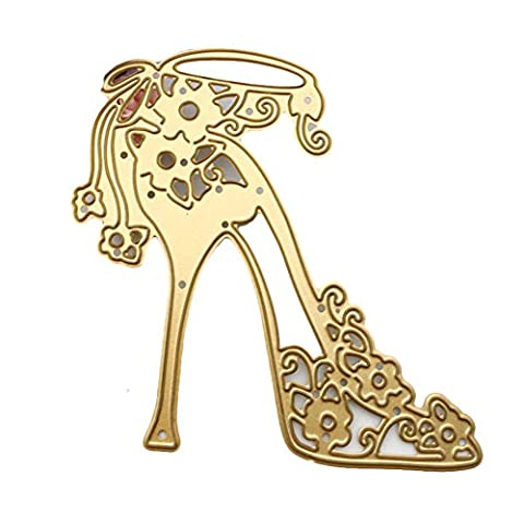 Enipate High-Heeled Shoes Metal Cutting Dies for Scrapbook Album Invitation Home Decoration Embossing Stencils Cut