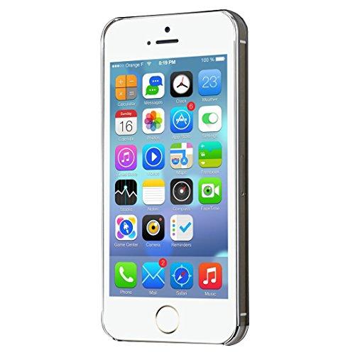 SpiritSun PC Hart Bling Zurück Schutzhülle für Apple iPhone 5 5S Schlank Handy Hülle Kristall Case Ultradünnen Glitzer Tasche Leichtgewicht Etui Anti-stoß Schale Kratzfeste Abdeckung mit Löwenzahn Mus Weiß