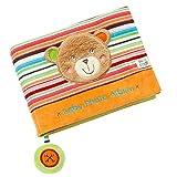 Fehn 091410 Fotobuch Teddy - Weiches Soft-Bilderbuch für 6 Fotos á 10x15 cm - Spielerisch Gesichter merken und Namen lernen für Babys und Kleinkinder ab 0+ Monaten - Maße: 20x15cm