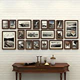 #5: WollWoll European Large Black and White Landscape Creative Art Wood Photo Frame Set (177 cm x 2 cm x 68 cm, Brown)