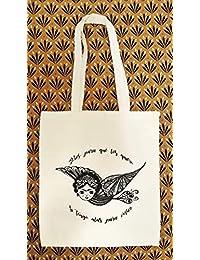 Tote bag inspirado de Frida Kahlo - Bolsos tote - Bolsa Boho Mexicana - Regalo para
