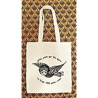 Tote bag Frida Kahlo - Tote Bag style Boho - Artiste Mexicaine - Sac Cabas 100% Coton écologique - idée cadeau pour femme - Cadeau de Noel