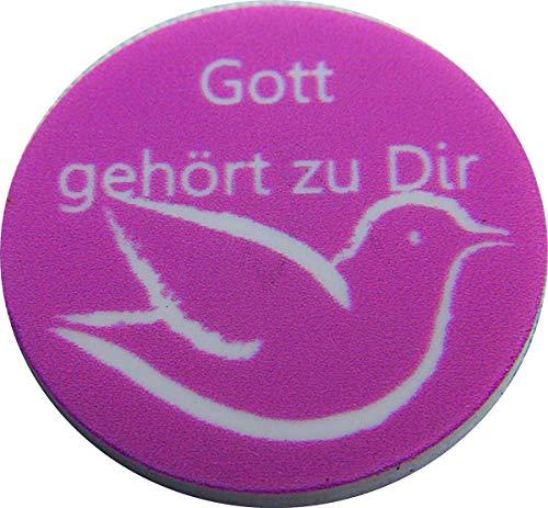 2000 P14 Gott gehört zu Dir Einkaufswagenchips Pfandmarken verschiedene Motive, auch mit eigenem Wunschtext/Bild. EKW Wertmarken