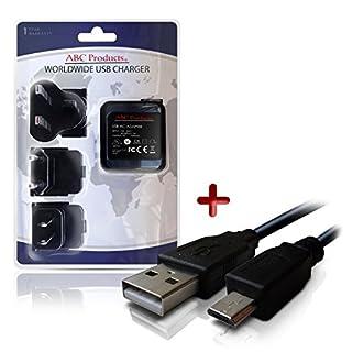 ABC Products® Ersatz Nikon Akku Ladegerät / Netzteil EH-71P + UC-E20 / UC-E21 Micro USB-Kabel für Coolpix Digitalkamera (Modelle unten angegeben) Weltreise - EU/UK/USA +