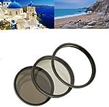 Filter Komplettset 67mm für Digitalkameras z.B. für Sony NEX 3.5-6.3/18-200mm - Tamron AF 28-300mm f3.5-6.3 XR Di VC LD u.a. - bestehend aus UV MC Filter/ Polfilter Zirkular/ Graufilter ND8
