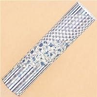 Nastro adesivo decorativo larghissimo 20cm mt Casa fiori blu