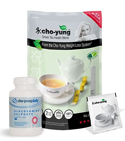Cho-Yung Weight Loss Tea (one pack of 30 Teabags) with 1 bottle of Glucosamine Sulphate 500mg 30
