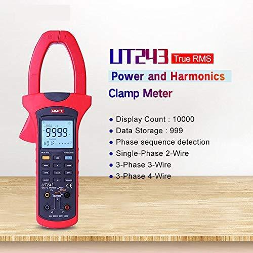 UT243 Leistungs- und Oberschwingungszangenmesser; True RMS Clamp Power Meter, Datenspeicherung, USB-Datenübertragung/LCD-Hintergrundbeleuchtung - Power Clamp Meter