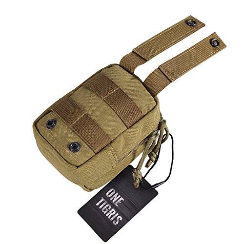 OneTigris Molle Hüfttaschen taktische Zubehörtasche kompakt EDC Tasche 1000D Nylon (Khaki) Khaki