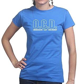OCD Obsessive Cat Disorder - Kitty Kitten Pet Ladies T Shirt 2X-Large Royal Blue