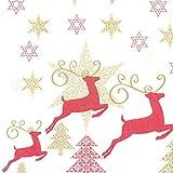 HANTERMANN Servietten Weihnachten rot Premium AIRLAID STOFFÄHNLICH | 25 Stück | 40 x 40cm | 1/4 Falz | hochwertige, edle Weihnachtsservietten | Weihnachtsdeko | Made in Germany - 2