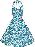 Lindy Bop 'Myrtle' Millésime 1950's Pétale Buste Licou Cou Floral Robe