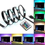 IREGRO Tiras LED Iluminación 2M 60LED para 40'-60' TV USB Powered LED Tira de TV, Tira Ligera del Cambiante RGB 16 Colores con Mando a Distancia 24 Keys