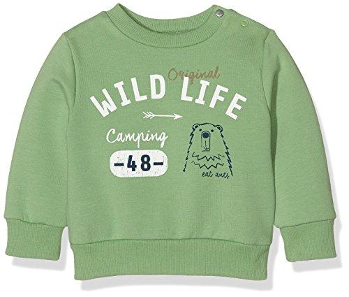 Sanetta Baby-Jungen Sweatshirt 113752, Grün (Woody Green 4948), 74