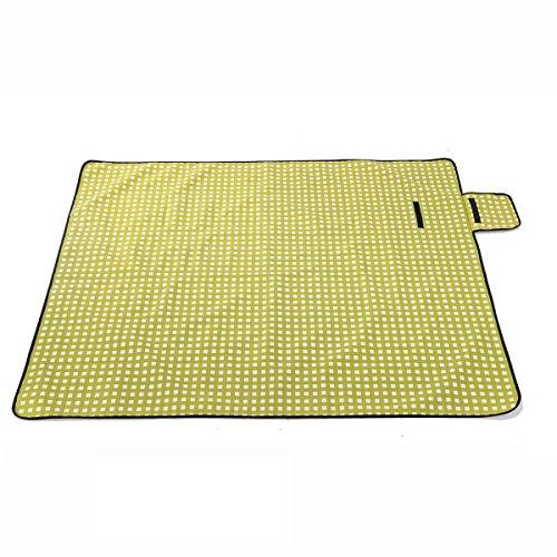 En Plein Air Imperméable à L'eau L'humidité Durable 2 M * 1.48m Treillis Jaune Tapis De Pique-nique Tapis En Plein Air Tapis De Plage ,Yellow Yellow