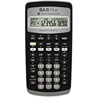 Texas Instruments BA II Plus - Calculadora (bolsillo, Financiero, Negro, Botones, Batería)
