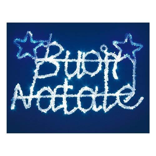importex LED Frohe Weihnachten Acryl Farbe Blau und Weiß-52X 23cm