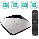 Sidiwen Android 9.0 TV Box X88 Pro Set Top Box 2GB RAM 16GB ROM RK3318 Quad-Core CPU Ethernet 2.4G/5G Dual Band WiFi USB 3.0 Support 4K H.265 Internet Media Player
