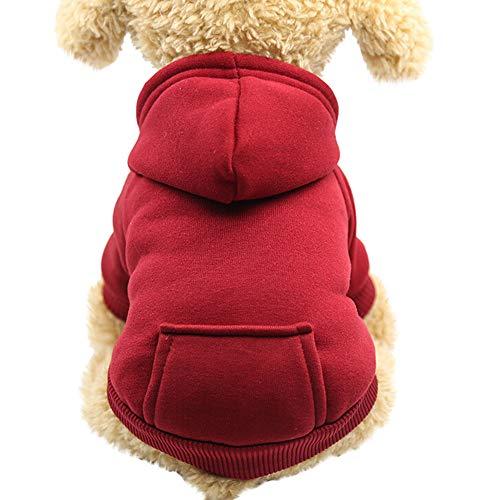 mxjeeio Hunde Katzen Kleidung Kapuzenpulli für Kleine Haustier Männchen und Weibchen Muster Schlafanzug Jumpsuit für Welpen Taschenpullover