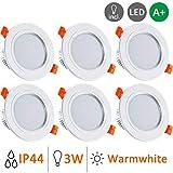 Gr4tec 6x LED Spots Encastrables, Spot Intégrée Lampe de Plafond avec...