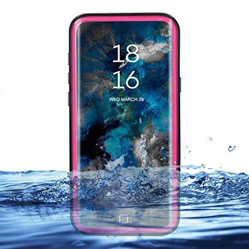 eazewell Galaxy S9Wasserdicht Schutzhülle, Ultra Slim 100% Unterwasser stoßfest Schneedicht Schutzhülle Transparent Rückseite Haut Rugged Box für Samsung Galaxy S9sm-g960, Rose Touchable Crystal Case