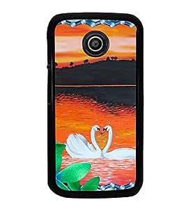 PrintVisa Designer Back Case Cover for Motorola Moto E :: Motorola Moto E XT1021 :: Motorola Moto E Dual SIM :: Motorola Moto E Dual SIM XT1022 :: Motorola Moto E Dual TV XT1025 (black feeling heart purelove missyou)
