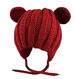 Berrose-Baby Katze Ohren handgemachte Wollmütze Strickmütze-sonnenhut kinder mützengröße mütze mädchen wintermütze jungen mützen für jungs
