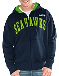 "Seattle Seahawks NFL G-III ""Huddle"" Full Zip Hooded Men's Sweatshirt Chemise"