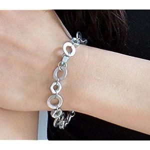 Armband Industrial Style / Muttern und Scheiben / Statement Schmuck