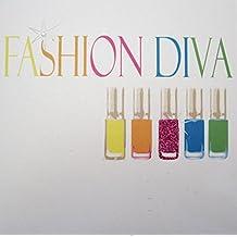 """White Cotton Cards neon smalto """"fashion Diva"""" Handmade neon [lingua inglese]"""