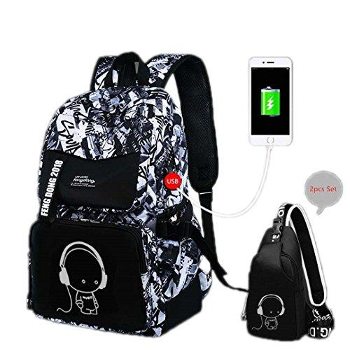 Niedliche Cartoon-Rucksack-Kind-Mädchen-Schultasche