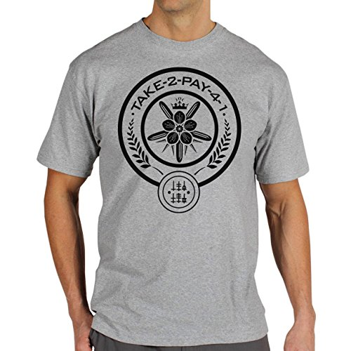 Hunger-Games-Take-2-Pay-4-1-Symbol-Art-Layer-0.jpg Herren T-Shirt Grau