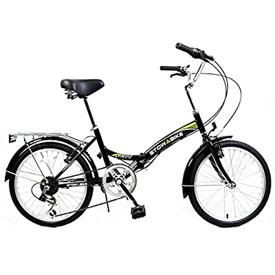 "Stowabike 20"" Folding City V2 Compact Foldable Bike -6 Speed Shimano Gears"
